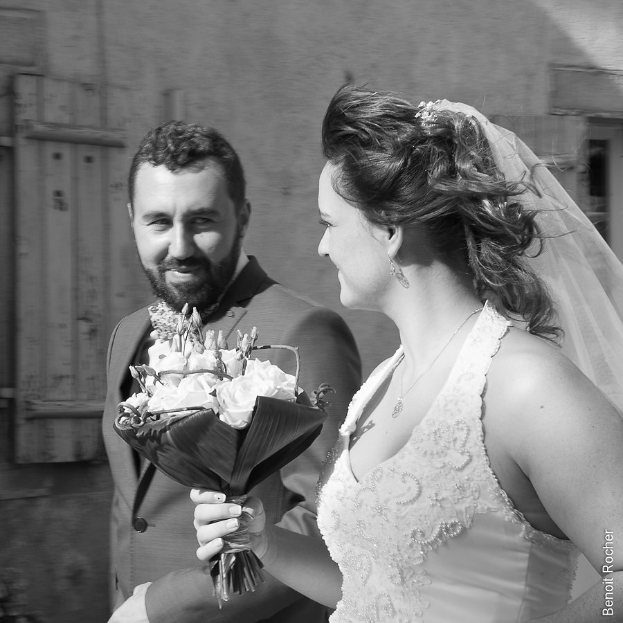 couple bouquet noir et blanc
